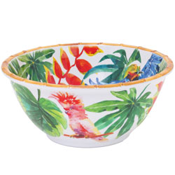 Deep Salad Bowl - 100% melamine - 25 cm - Tropical Birds