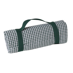 Waterproof picnic blanket dark green gingham (140 x 140 cm)