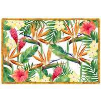placemat Exotic flowers
