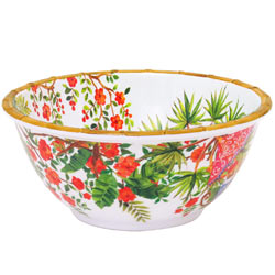 Deep Salad Bowl - 100% melamine - 25 cm - Bali's Monkeys