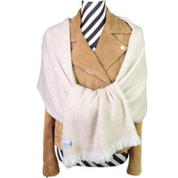 Women's stole/pashmina in Camel Herringbone pattern