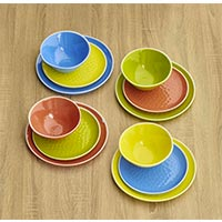 Small melamine plate - Yellow. 2 pieces