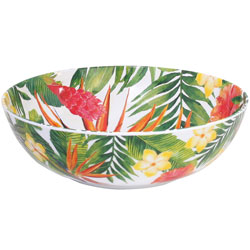 Large Salad Bowl - 100% melamine - 31 cm - Exotic Flowers
