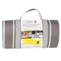 "Grey picnic blanket ""Versailles"", waterproof backing (280 x 140 cm)"