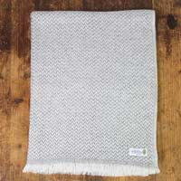 Women's stole/pashmina in Mouse grey Herringbone pattern