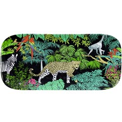 Long Rectangular Cake Dish - 100% melamine - 37,5 cm - Jungle