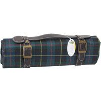 Green Scottish picnic blanket