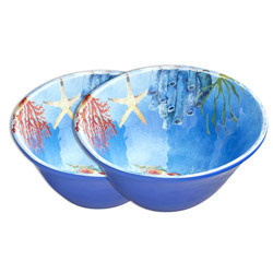 Bowl in melamine - Marine. 2 pieces
