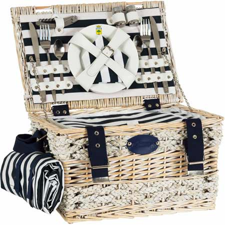 Picnic Basket Marine for 2 people