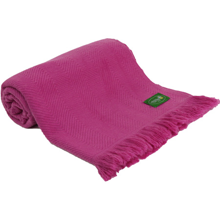 Throw in cashmere and wool: fushia pink