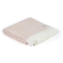 Camel lightweight cashmere and wool throw