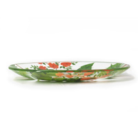 Transparent small plate / dessert plate in tempered glass, 19.5 cm - Bali's Monkeys