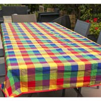XXL multicolor picnic blanket with waterproof backing (280x140cm)