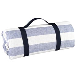 Waterproof picnic blanket sky blue and white (140 x 140 cm)
