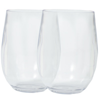 2 Acrylic Glasses