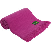 Fushia pink lightweight cashmere and wool throw