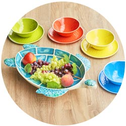 Nearly unbreakable melamine crockery