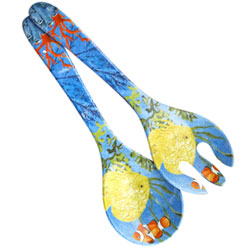 Salad servers in melamine - Marine