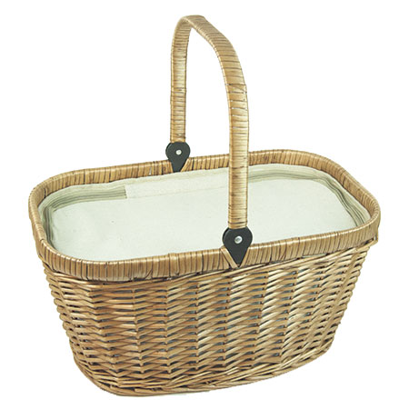 "Insulated wicker hamper ""Chantilly Lin"""
