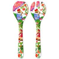 Salad Servers - 100% melamine - 33 cm - Bali's Monkeys