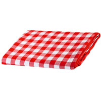 Red and white picnic blanket with waterproof lapel (140x140 cm)