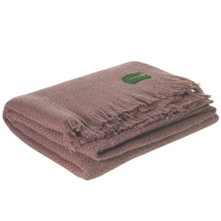 Brown lightweight cashmere and wool throw