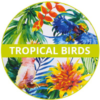 Tropical Birds Theme Melamine tableware
