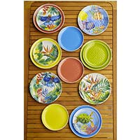 Small melamine plate - Tropical Birds. 2 pieces