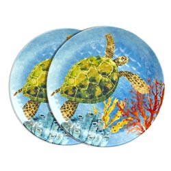 Small melamine plate - Marine. 2 pieces