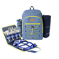 "Picnic backpack ""URBAN TREKKING"" Yellow 4 people"