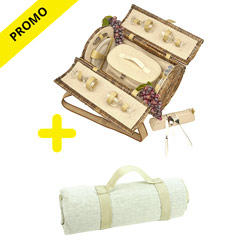 Picnic pack: Picnic hamper and picnic blanket -50%