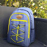 "Picnic backpack ""URBAN TREKKING"" Yellow for 2 people"