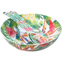 Salad servers in melamine - Exotic Flowers