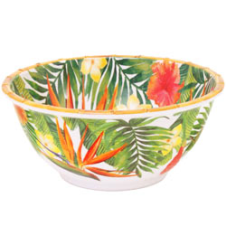 Deep Salad Bowl - 100% melamine - 25 cm - Exotic Flowers