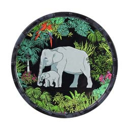 Small Dessert Plate - 100% melamine - 23 cm - Jungle