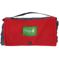Red fleece Outing picnic blanket