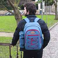 "Picnic backpack ""URBAN TREKKING"" Red 4 people"