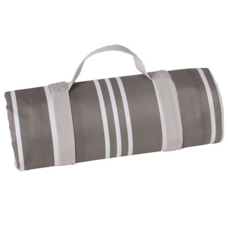 Tablecloth - picnic rug Versailles gray  with waterproof lapel (140cm x 140cm)