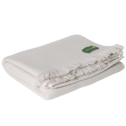 Cream lightweight cashmere and wool throw