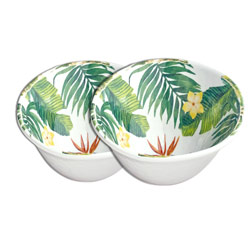 Bowl in melamine - Exotic Flowers. 2 pieces