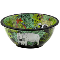 Deep Salad Bowl - 100% melamine - 25 cm - Jungle