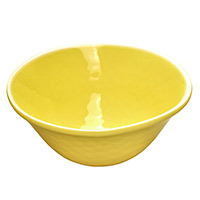 Bowl in melamine - Yellow. 2 pieces