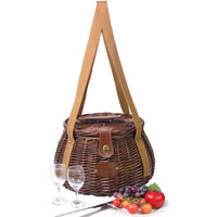 'Chambord' round picnic basket - for 2 people