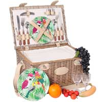 Picnic basket for 2 people with melamine plates - 'Bel Air'