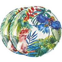 Large melamine dinner plate - Tropical Birds. 2 pieces