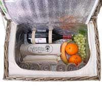Picnic basket for 6 people with melamine plates - 'Bel Air'
