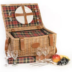 """Trianon red"" Picnic basket for 4 people"