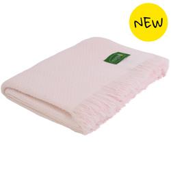 light pink lightweight cashmere and wool throw