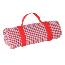 Red gingham picnic blanket with waterproof backing (140 x 140 cm)
