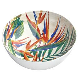 Salad Bowl in melamine - Exotic Flowers